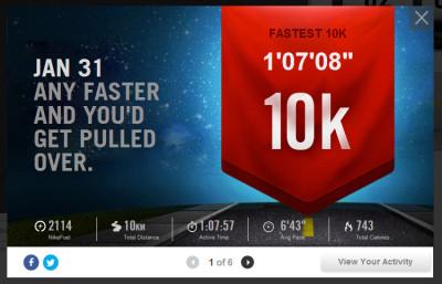10 km Nike+ Running