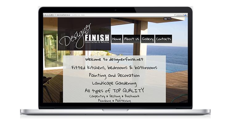 Designer Finish web