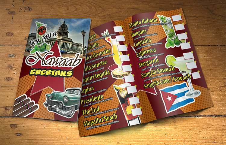 Nawaab Cocktails menu